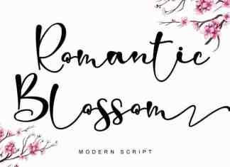 Romantic Blossom Script Font