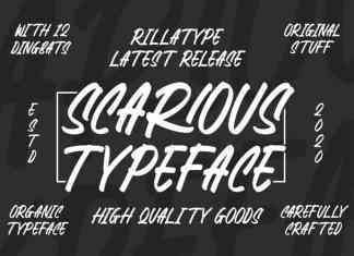 Scarious Brush Font