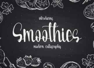 Smoothies Script Font