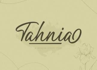 Tahnia Script Font