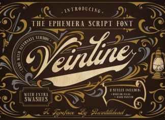 Veinline Script Font