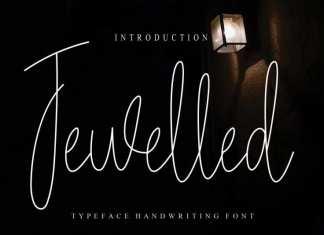 Jewelled Handwritten Font