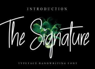 The Signature Handwritten Font