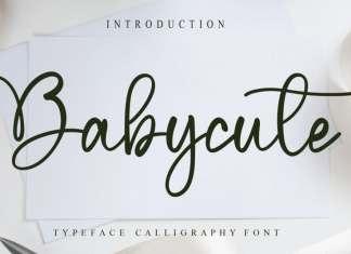 Babycute Script Font