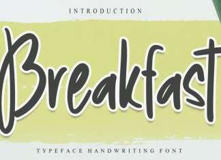 Breakfast Brush Font