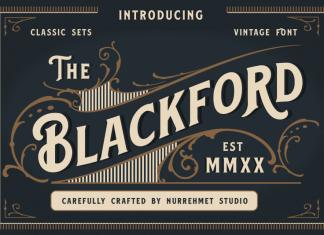 Blackford Display Font