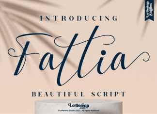 Fattia Script Font