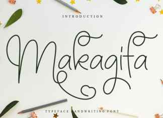 Makagifa Script Font