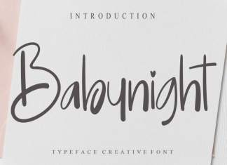 Babynight Script Font