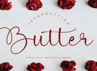 Butter Calligraphy Font