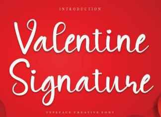 Valentine Signature Script Font