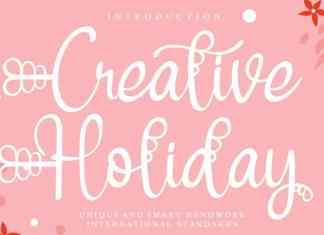 Creative Holiday Script Font