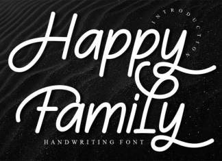 Happy Family Script Font