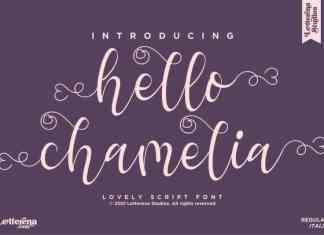 Hello Chamelia Calligraphy Font
