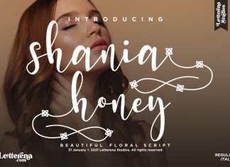 Shania Honey Calligraphy Font