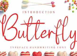 Butterfly1 Script Font