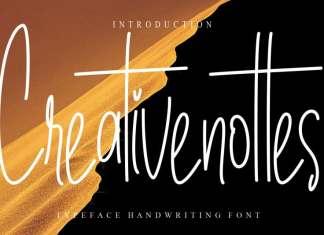 Creativenottes Handwritten Font
