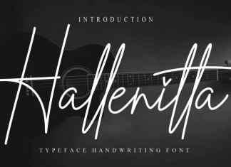 Hallenitta Handwritten Font