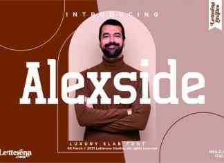 Alexside Slab Serif Font