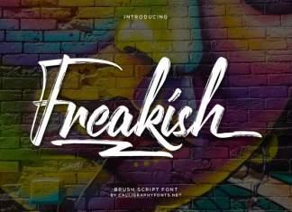 Freakish Brush Font