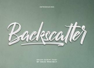 Backscatter Brush Font