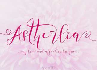 Astherlia Calligraphy Font