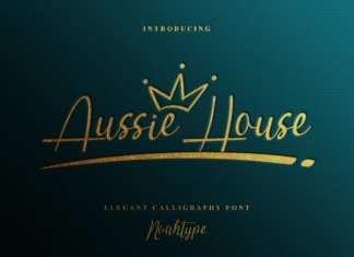 Aussie House Script Font