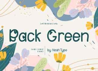 Back Green Font