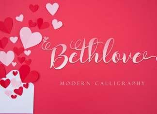 Bethlove Calligraphy Font
