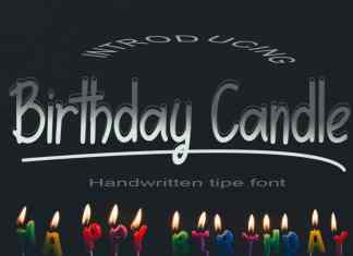 Birthday Candle Display Font