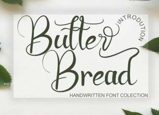 Butter Bread Calligraphy Font