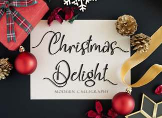 Christmas Delight Calligraphy Font