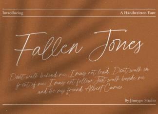 Fallen Jones Script Font