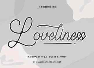 Loveliness Handwriting Font