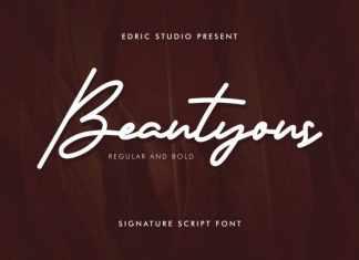 Beautyous Signature Script Font