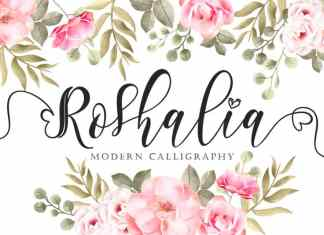 Roshalia Calligraphy Font