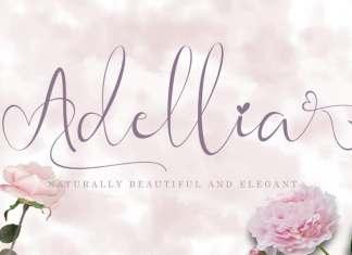 Adellia Calligraphy Font