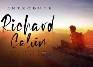 Richard Calvin Script Font