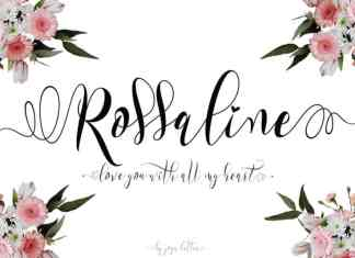Rossaline Calligraphy Font