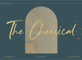 The Chemical Brush Font