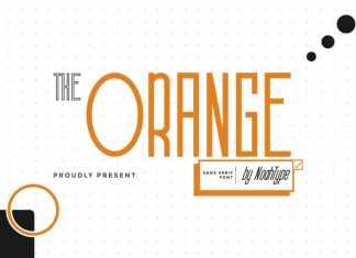 The Orange Display Font