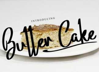 Butter Cake Brush Font