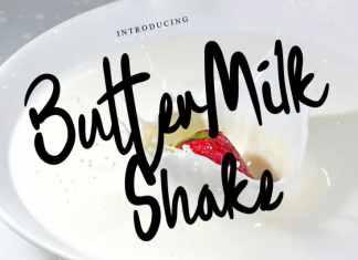 Buttermilk Shake Script Font