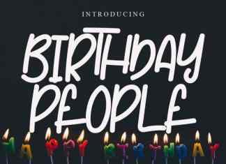 Birthday People Display Font