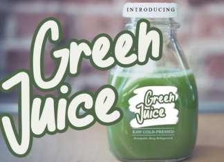 Green Juice Display Font