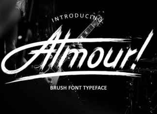Almour! Brush Font