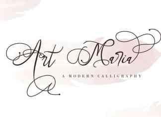 Art Maria Calligraphy Font