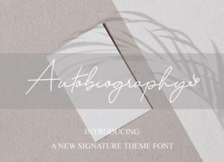 Autobiography Handwritten Font