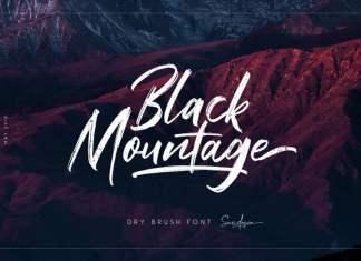 Black Mountage Brush Font