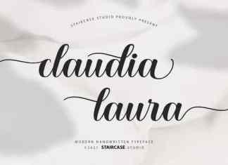 Claudia Laura Calligraphy Font